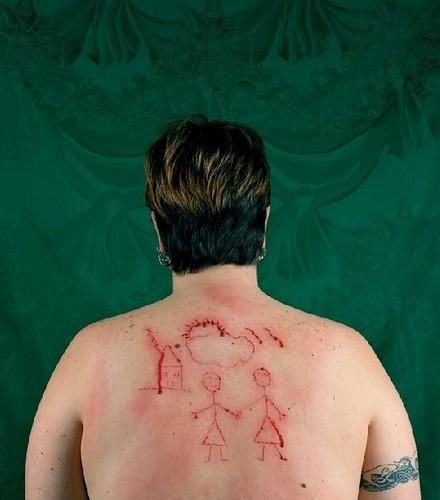 Catherine Opie, Self-Portrait/Cutting, 1993, (c) Catherine Opie
