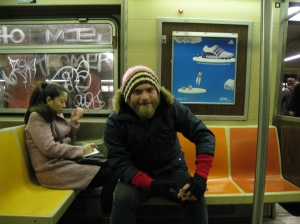 Take stranger's pictures on the subway (when they know about it.)