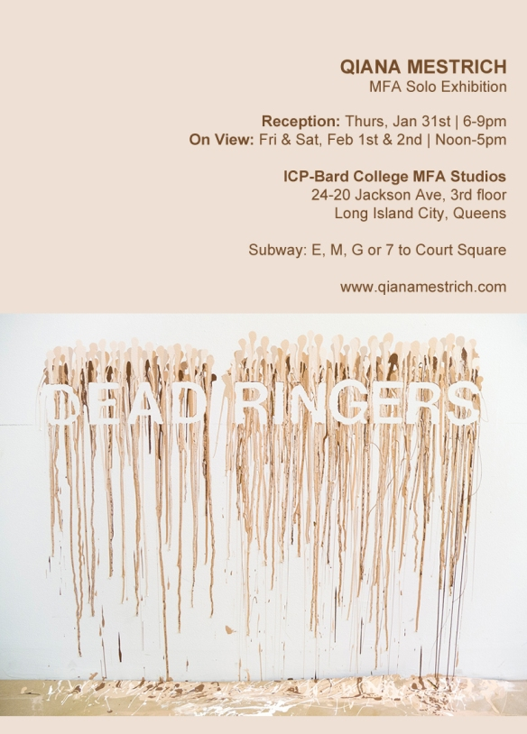 Qiana Mestrich MFA Solo Exhibition Opening Jan 31st