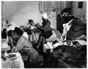 One-room kitchenette. | Chicago ILLINOIS 1947 | Wayne Miller