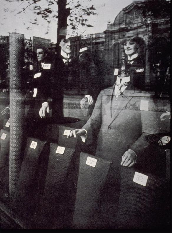 Eugène Atget, Magasin (Menswear shop window), Avenue des Gobelins, 1926