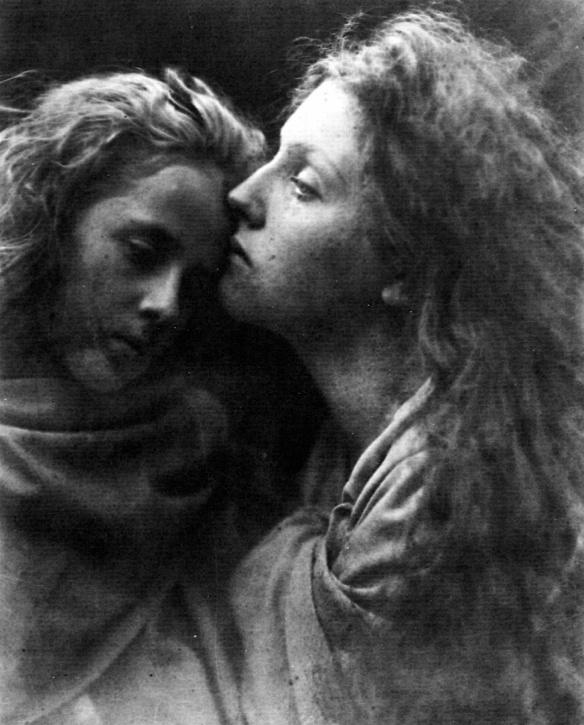 Julia Margaret Cameron-The Kiss of Peace 1870