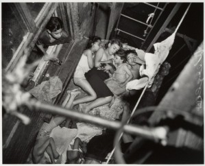 Children on Fire Escape, 1938, Weegee
