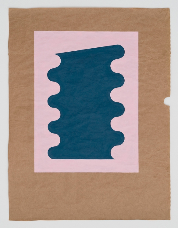 Ben Berlow. Untitled, 2013. Casein, gesso on paper. 33 x 25 1/4 inches. Courtesy the artist and Rawson Projects, New York