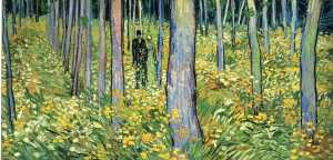 Undergrowth with Two Figures, Vincent Van Gogh, 1889