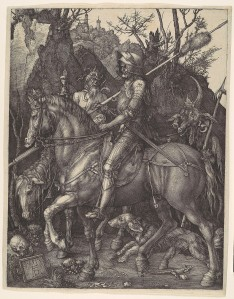 Albrecht Dürer. Knight, Death, and the Devil, 1513. Engraving, 9 13/16in  x 7 11/16in. Harris Brisbane Dick Fund, 1943.