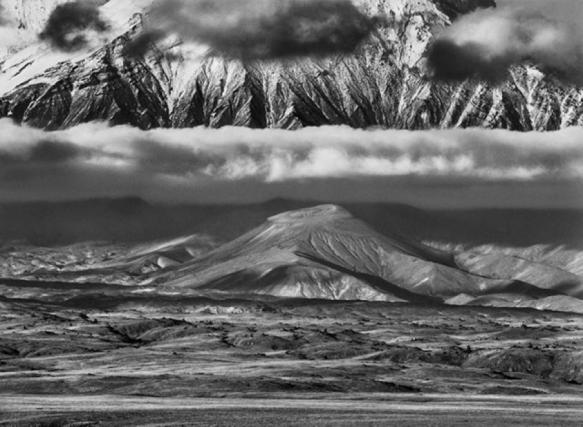 Sebastião Salgado. Tolbachik Volcanoe. In the background, the huge base of Kamen Volcano. Kamchatka, Russia. 2006.