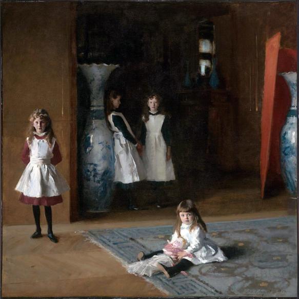 John Singer Sargent. The Daughters of Edward Darley Boit. Paris. 1882.
