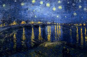 Vincent Van Gogh. Starry Night Over the Rhone, 1888.Oil on canvas 28.5 in x 36.2 in. Musée d'Orsay, Paris.