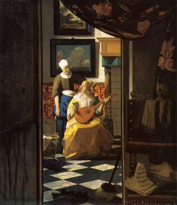 Jan Vermeer. The Love Letter. 1666.