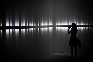 Rafael Lozano-Hemmer, Voice Array, 2011. Fletcher Gallery, London, United Kingdom, 2014. Photo by: Grace Storey, Carroll/Fletcher Gallery.