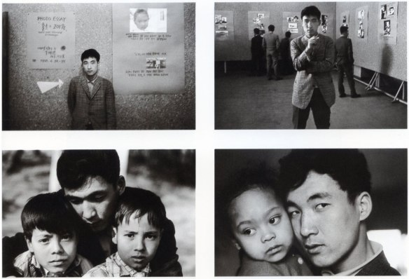Joo Myung Duck's Holt Orphanage exhibit in Seoul (1966) and his photos with children from the book, The Mixed Names (1969, reprinted in1998).