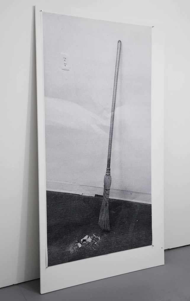 Emile Rubino - Soliloquy, toner print, 41 x 80 inches, mdf panel, 46 x 85 inches, 2015